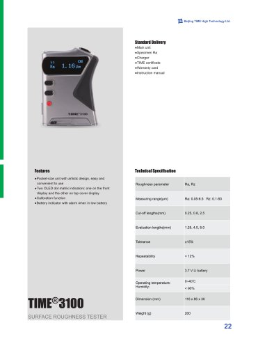TIME3100 (TR100) Portable Surface Roughness Tester