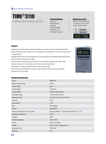 TIME3110 (TR110) Contact Type Surface Roughness Tester