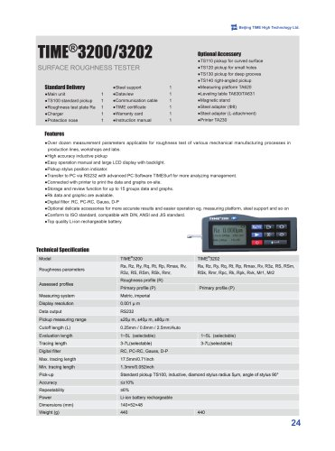 TIME3200/3202(TR200) Digital Portable Surface Roughness Tester