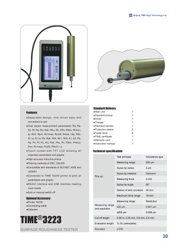 TIME3223 Portable Surface Roughness Tester