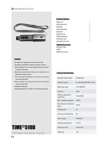 TIME510D Integrated Pen Type Leeb Hardness Tester