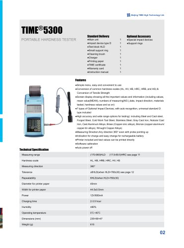 TIME5300 Portable Leeb Hardness Tester