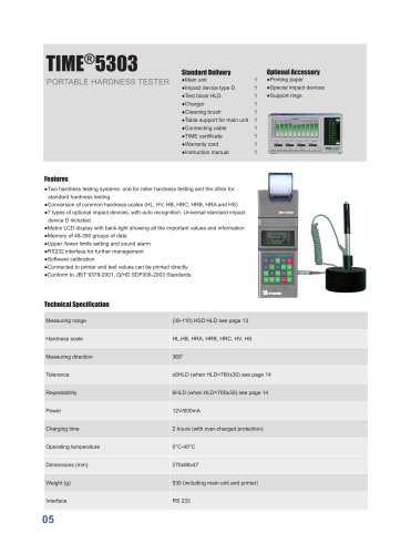 TIME5303 Portable Hardness Tester for Rolls