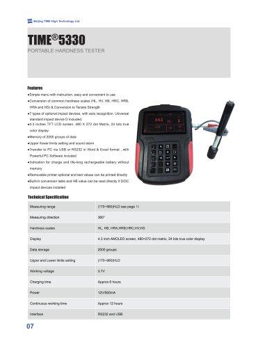 TIME5330 dynamic leeb hardness tester