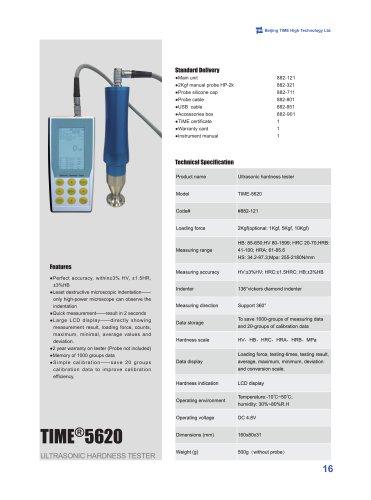 TIME5620 Ultrasonic Hardness Tester (UCI)