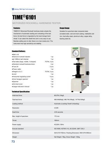 TIME6101 Motorized Rockwell Hardness Tester