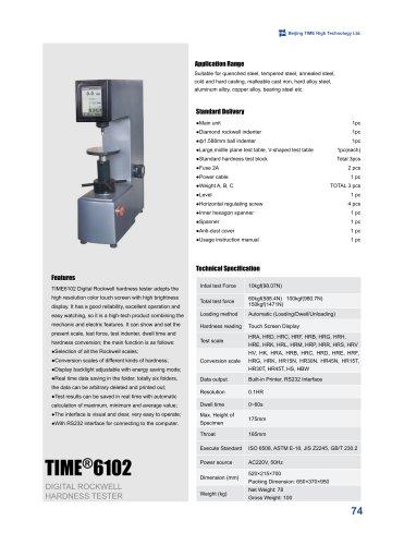 TIME6102 Digital Rockwell Hardness Tester