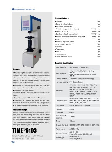 TIME6103 Rockwell and Superficial Hardness Tester