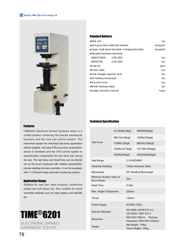 TIME6201 Electronic Brinell Hardness Tester