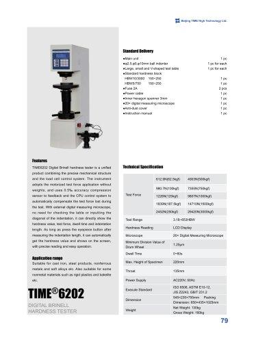 TIME6202 Digital Brinell Hardness Tester