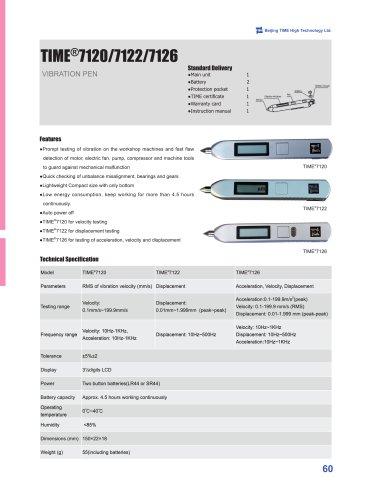 TIME7120/7122/7126 Pen Type Vibration Meter
