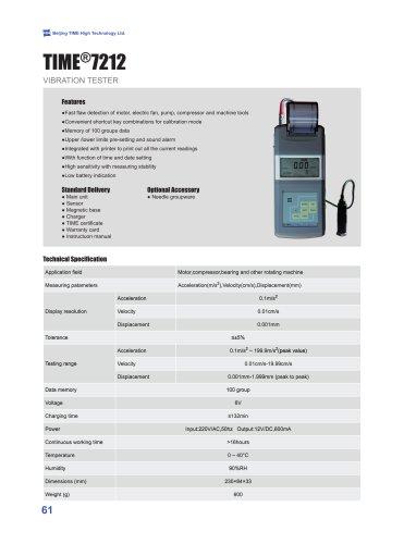 TIME7212 Portable Vibration Tester