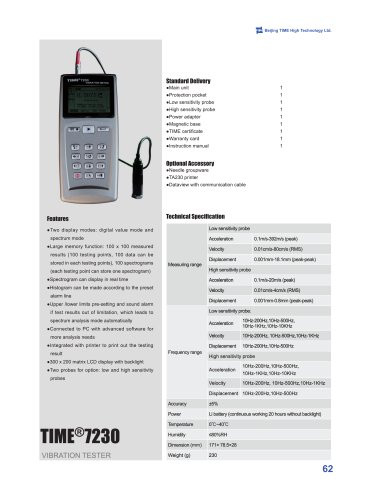 TIME7230 Portable Digital Vibration Meter