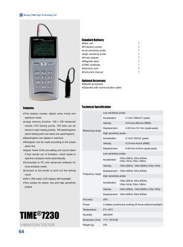 TIME7230 Vibration Meter