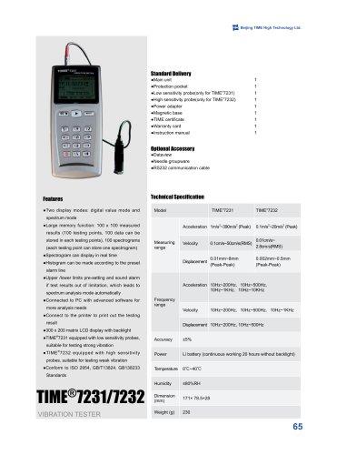 TIME7231/7232 Portable Vibration Testing Machine