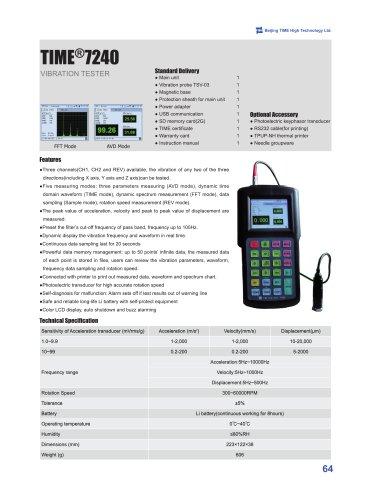 TIME7240 Handheld Vibration Tester