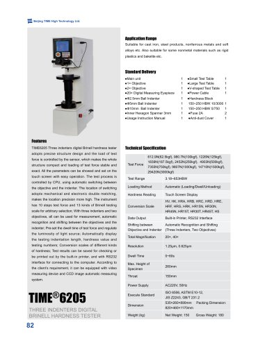 Touch Screen TIME®6205 Three Indenters Digital Brinell Hardness Tester