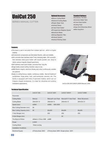 UniCut 250 Sample Manual Cutter
