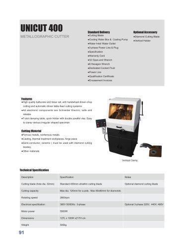 UnitCut 400 Metallographic Cutter