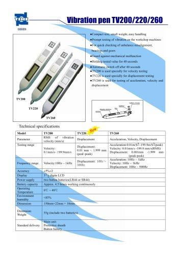 Vibration pen TV200/220/260