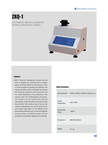 ZXQ-1 Automatic Sample Mounting Press