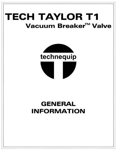 Tech Taylor Vacuum breaker