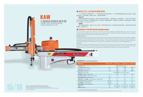 3 axies Cartesian robot for 320~680 Ton IMM-SANTSAI MACHINERY