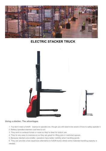 Fully Electric Power Wolkie Straddle Stacker Fork-SANTAI MACHINERY