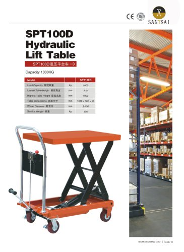 Hydralic lift table&Lift truck-Santsai Machinery