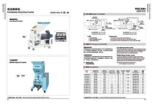 Low speed granulators-SANTSAI MACHINERY