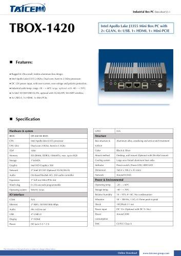 TAICENN/Box computer/TBOX-1420