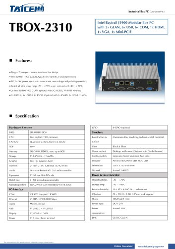 TAICENN/Box computer/TBOX-2310