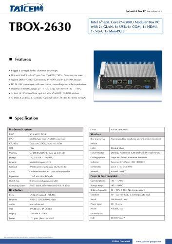 TAICENN/Box computer/TBOX-2630