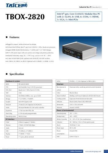 TAICENN/Box computer/TBOX-2820