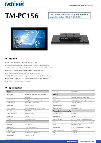 TAICENN/industrial monitor/TM-PC156