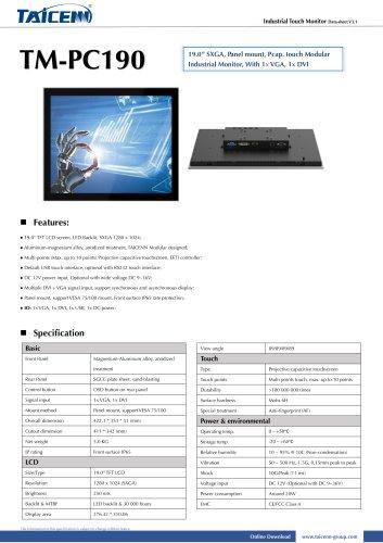 TAICENN/Industrial monitor/TM-PC190
