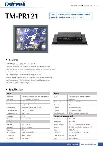 TAICENN/industrial monitor/TM-PR121