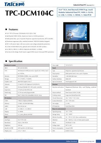 TAICENN/Panel PC/TPC-DCM104C1