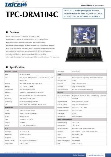 TAICENN/Panel PC/TPC-DRM104C1
