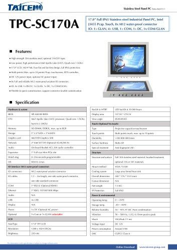 TAICENN/Panel PC/TPC-SC170A1