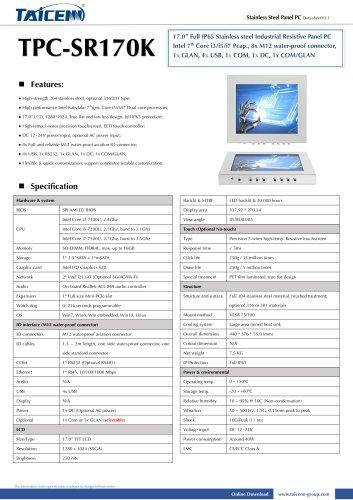 TAICENN/Panel PC/TPC-SR170K
