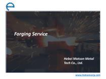 Forging Service-Matson Metal