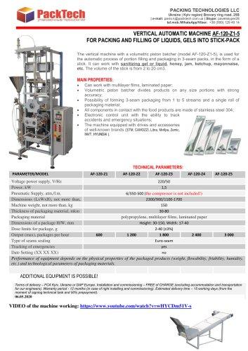 Machine for filling sanitizing liquid into stick-packs