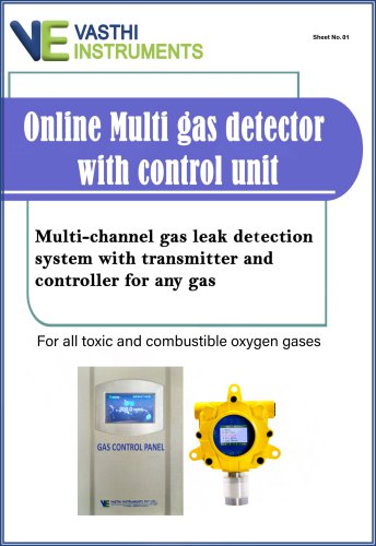 Online Multi gas detector with control unit