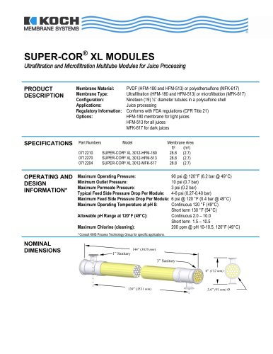 SUPER-COR® XL MODULES