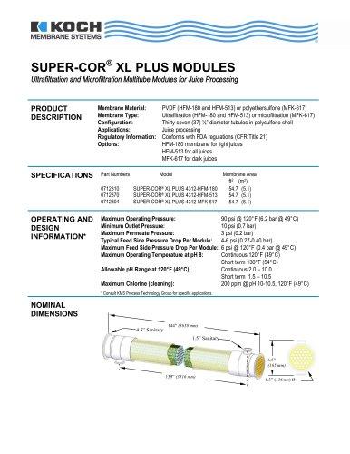 SUPER-COR® XL PLUS MODULES