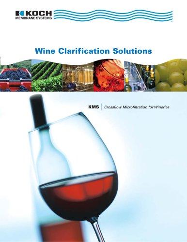 Wine clarification solutions brochure