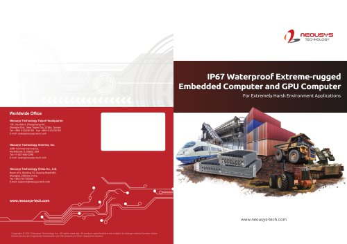 2021 IP67 Waterproof Extreme-Rugged Embedded Computer