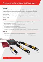 Stabilized HeNe lasers SL Series - 2