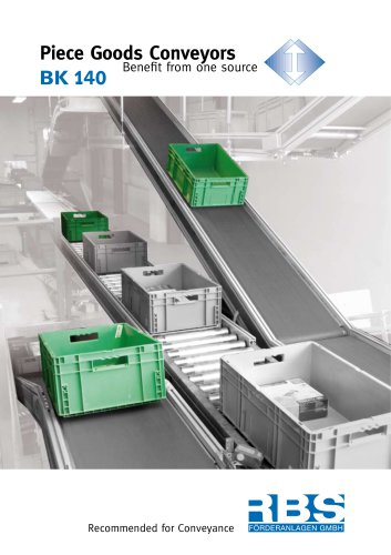 Piece Goods Conveyors Benefit from one source BK140